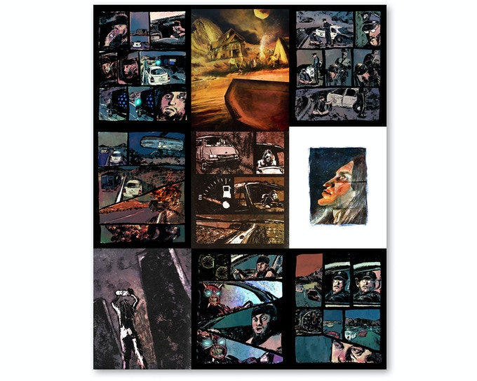 """Pages from the """"To the Monsters"""" graphic novel"""