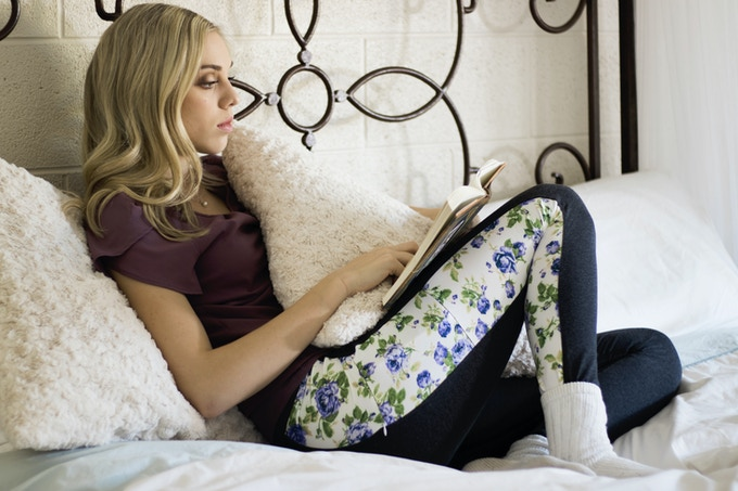 Model/Dancer Whitney Wilson in Comfort Cotton - Blue Rose