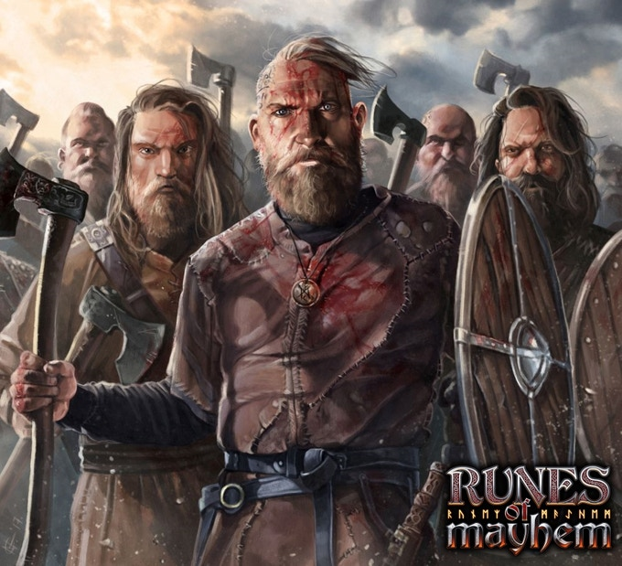 Viking axemen ready to battle