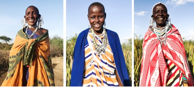 Lea Olewaya, Ngarisi and Sabina (Maasai artisans)
