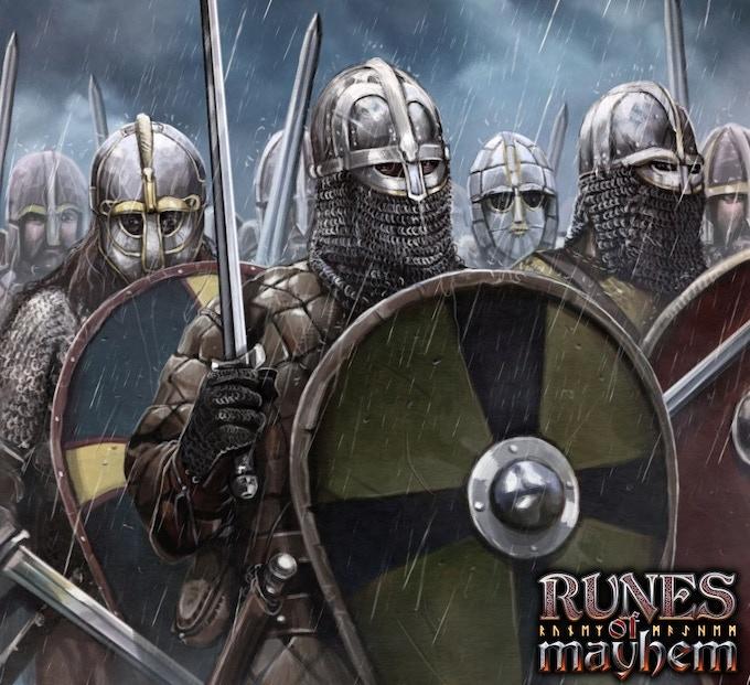 Anglo-Saxon Thegn swordsmen protecting Kingdom and God