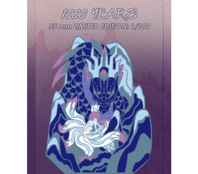 """1000 YEARS"" 55mm LIMITED EDITION PIN: MAKE 1/100 (You will only be able to receive the ""1000 Years"" pin via its specific reward level. Add to your pledge via the manage section to add additional pins.)"