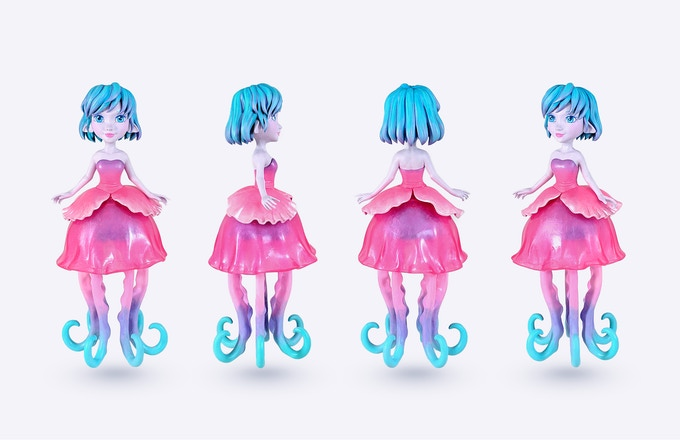 Ellie The Jellyfish Princess By Mj Hsu Amp Uvd Toys By