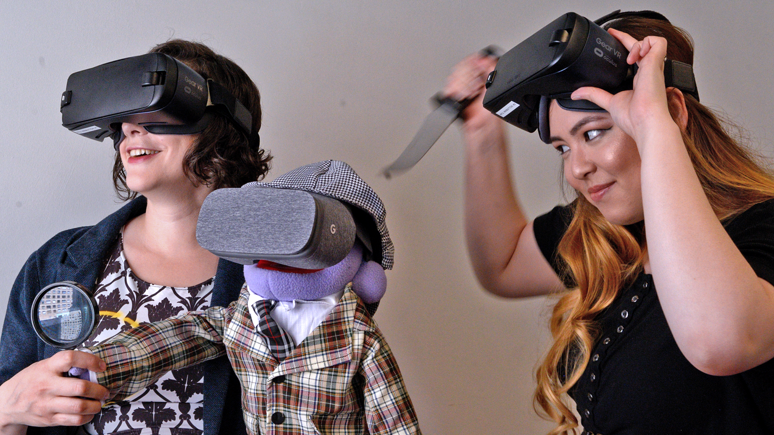 You play a puppet detective in this short interactive 360 degree video game starring puppets.