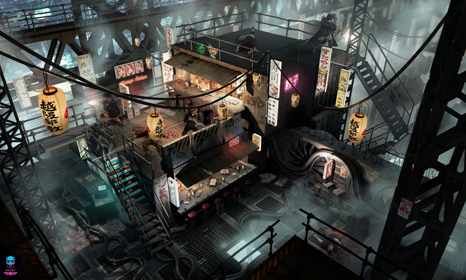 The Golden Gai: Adventure location Container Town.