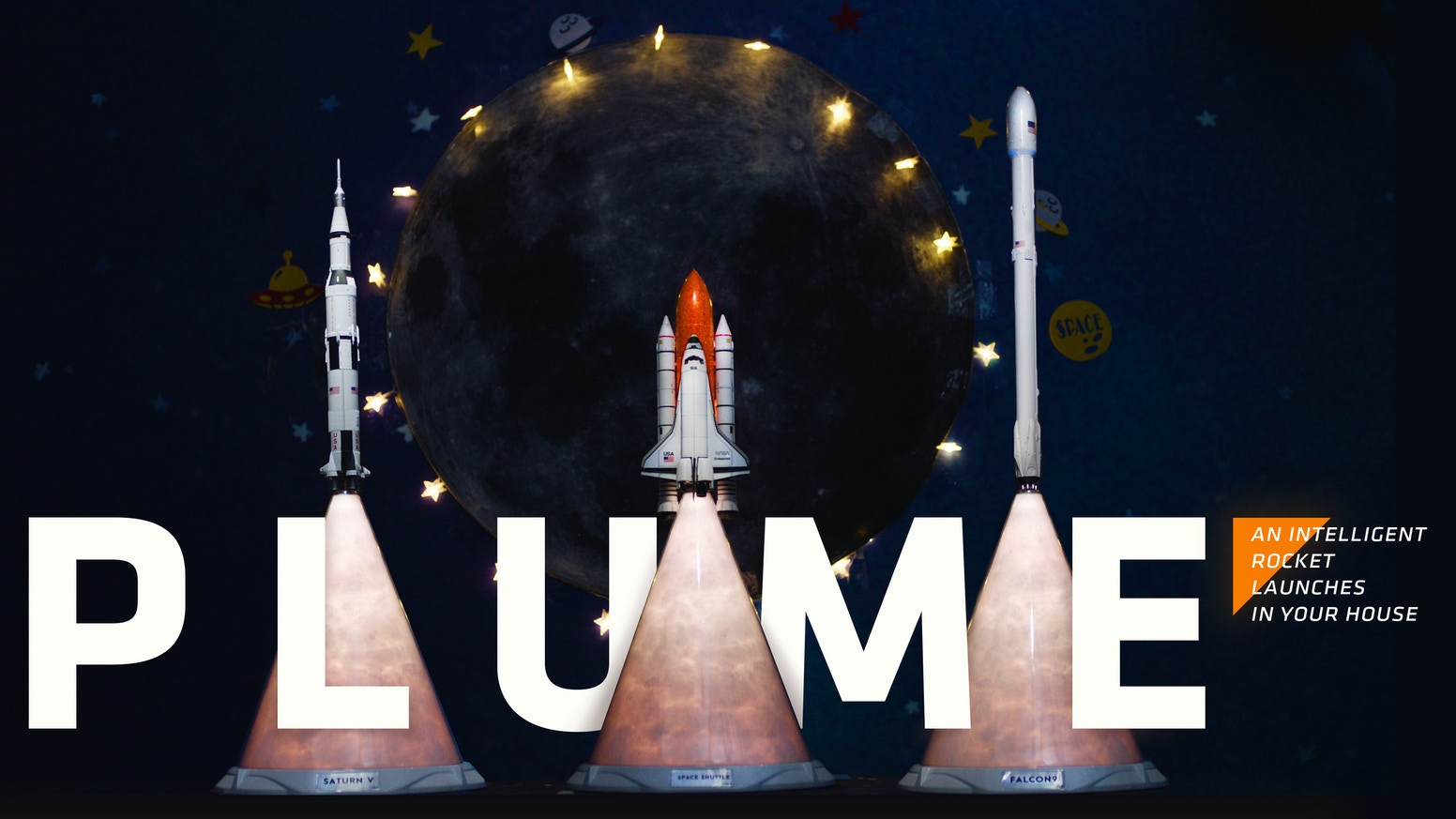 PLUME is a smart, multifunctional rocket launch vehicle designed to mimic a rocket launch in both appearance and entertainment.