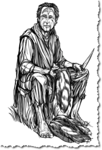 Bjalien Viadas, an aloof man villagers fear and respect. Click to see a larger version.