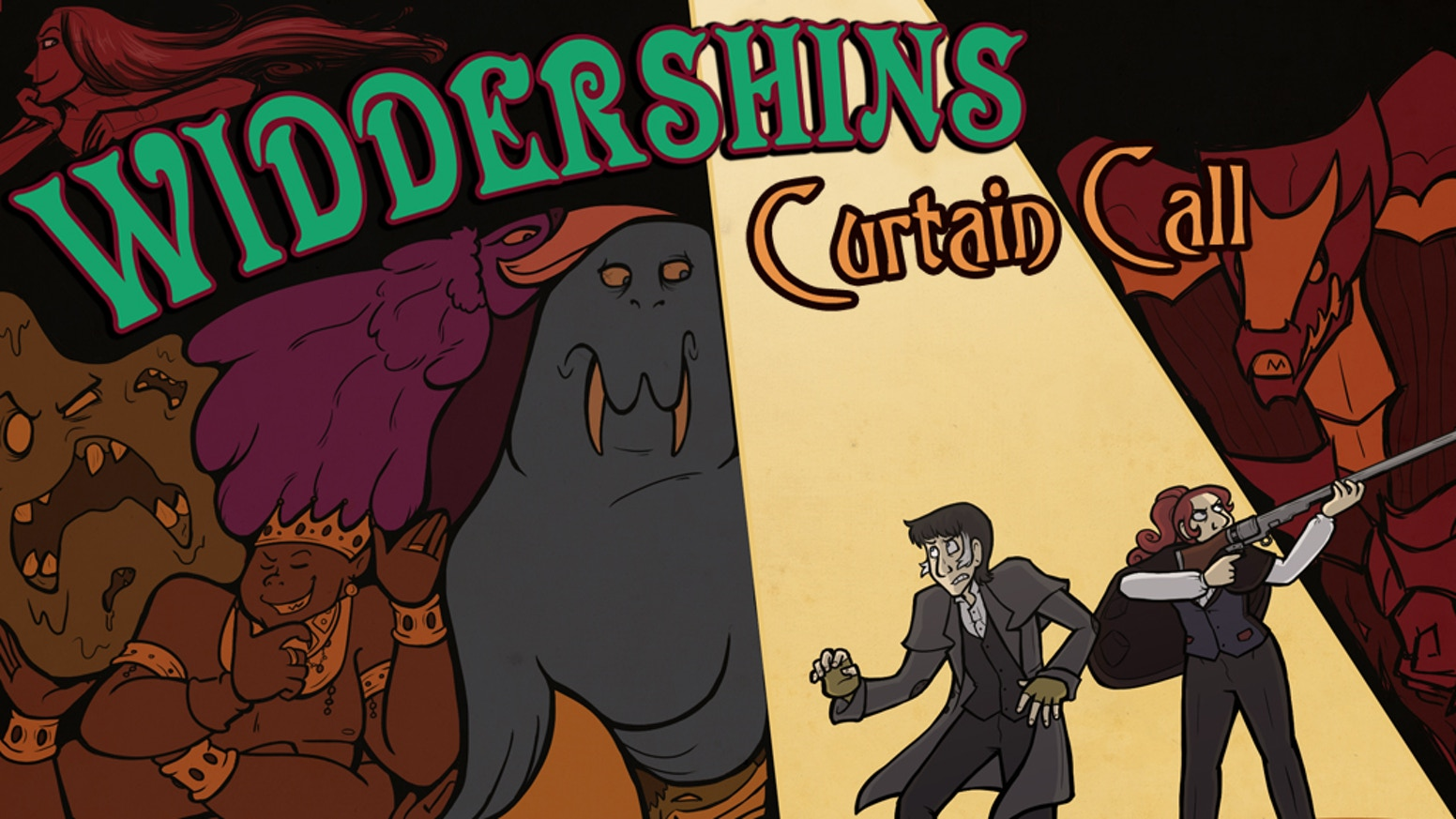Victorian-era magic and adventure, in the latest printed volume of the webcomic Widdershins!