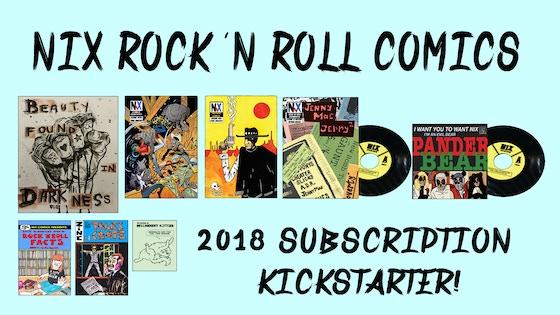 Nix Comics 2018 Comic Book and Records Subscription