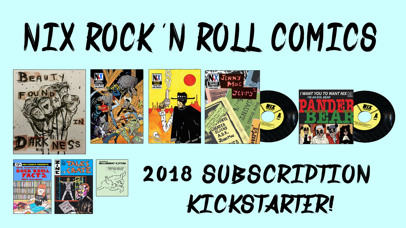 Nix Comics 2018 Comic Book and Records Subscription by Ken Eppstein