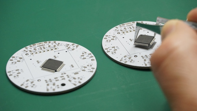 Manual assembly of SMD components is not compatible with caffeine abuse...
