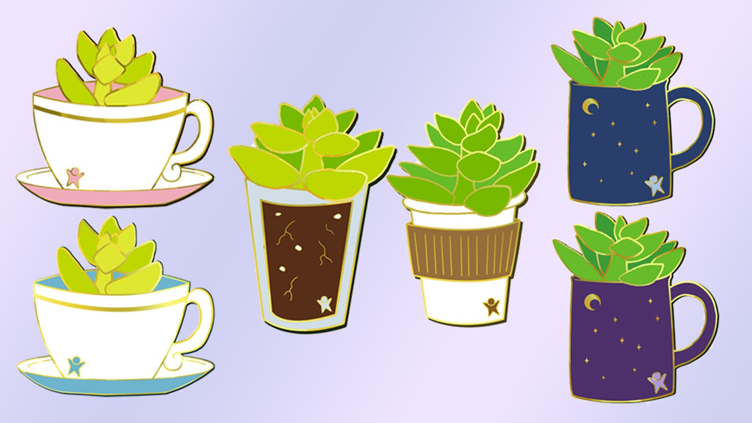 *Hard Enamel Pins for Plant Lovers* Missed out on the Kickstarter? Get them in my shop now!