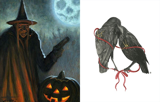 """Chet Zar - """"The Crimial Witch"""" 8x10 (Left) Stephanie Inagaki - """"Hope and love"""" 8x10 (Right)"""