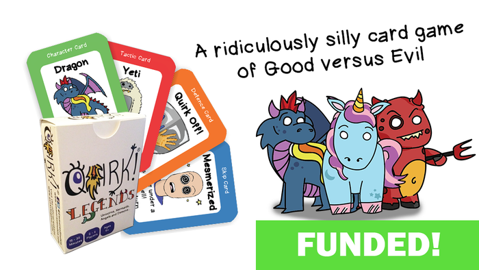 A super fun, happy, amusing, mischievous card game for people who love being unicorns, dragons, superheroes and evil villains...