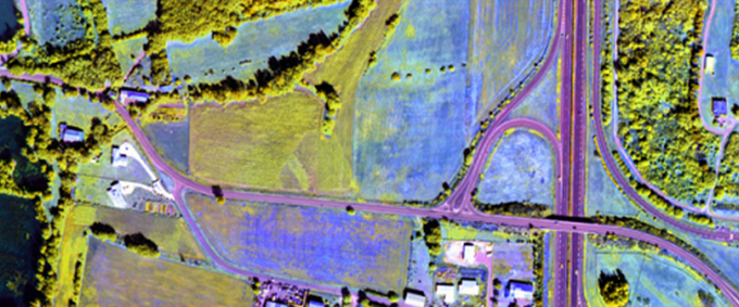 Hyper-Spectral image of fields and roads