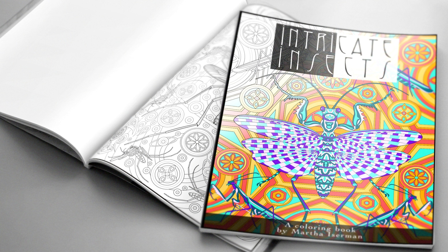 Intricate Insects A Choose Your Own Difficulty Coloring Book By