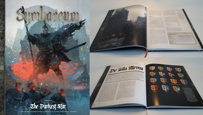 The images to the right are from the Swedish edition of Yndaros – The Darkest Star, launched about 3 months ago
