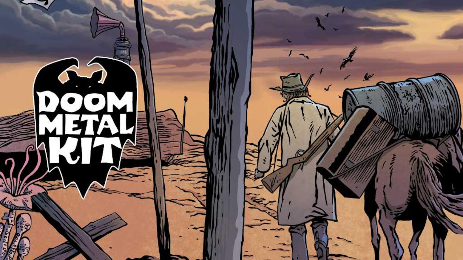 Magische Monster-Comics - Doom Metal Kit ist Außendienst-Techniker für okkulte Maschinen und hat seine Finger täglich in der Hölle ...