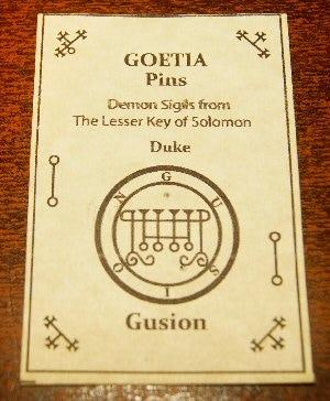 Demon Sigil Pins Full 72 Demon set The Lesser Key of Solomon