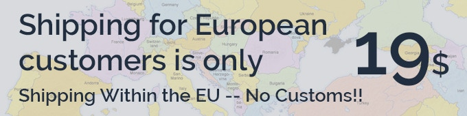 We are based in the USA. We now have a fullfillment center in the European Union.