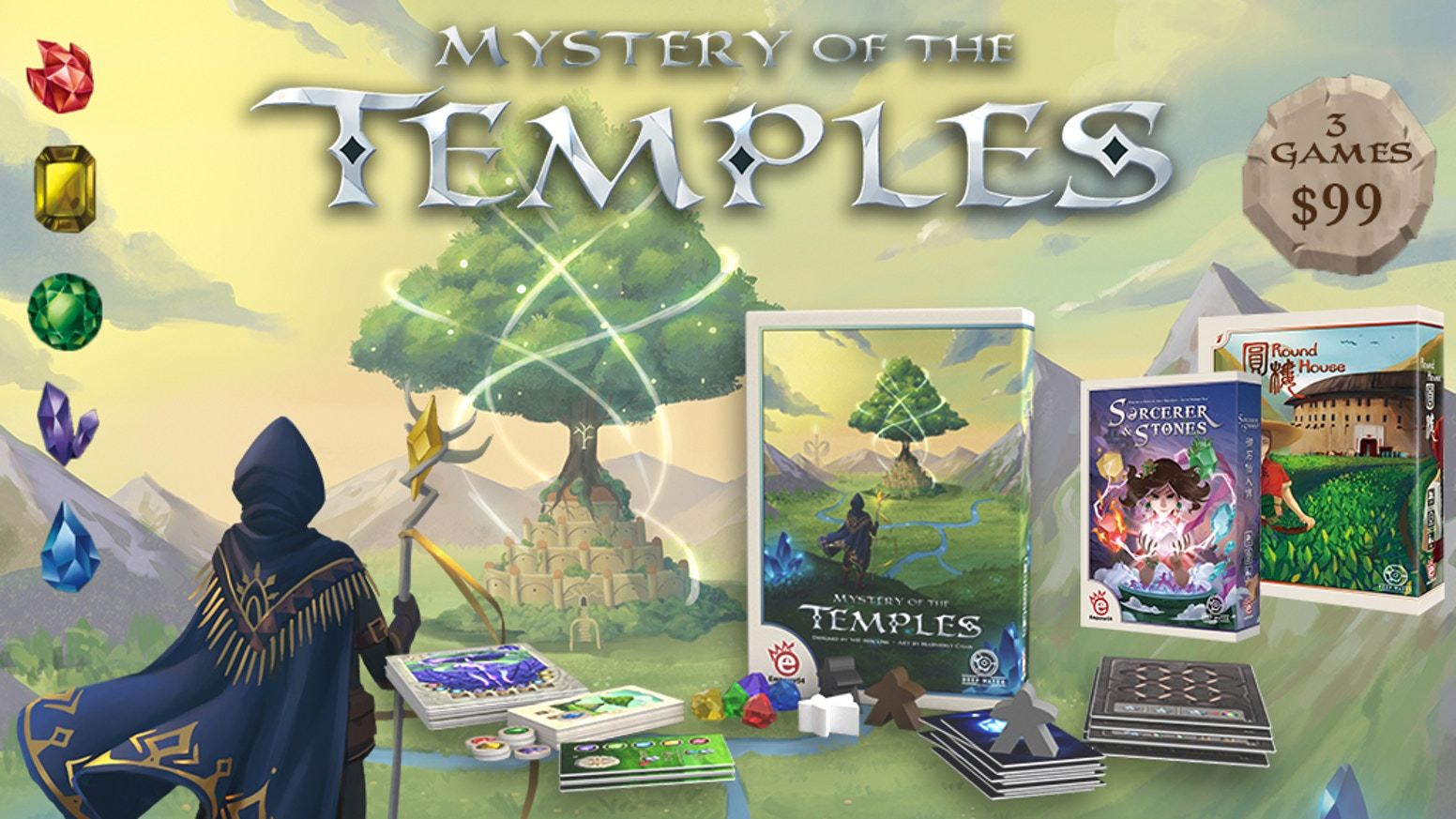 Mysterious temples call to you, brave adventurer. Can you break the dark curses and unlock the power of hidden runes and rise to glory?