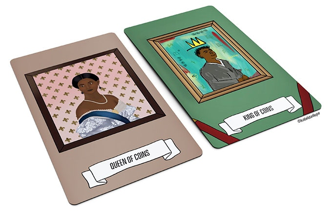 Cards inspired by the art of Kehinde Wiley & Jean-Michel Basquiat