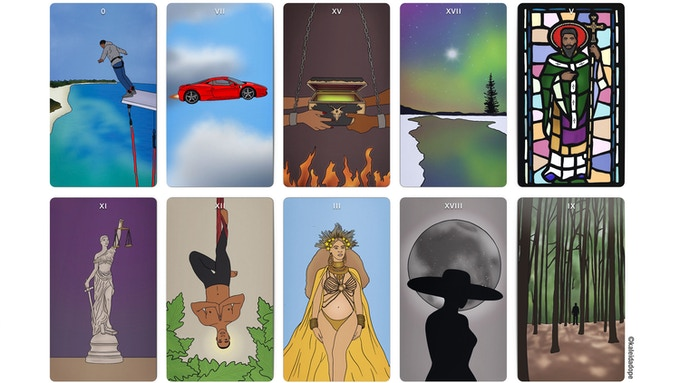 10 of the 22 Major Arcana