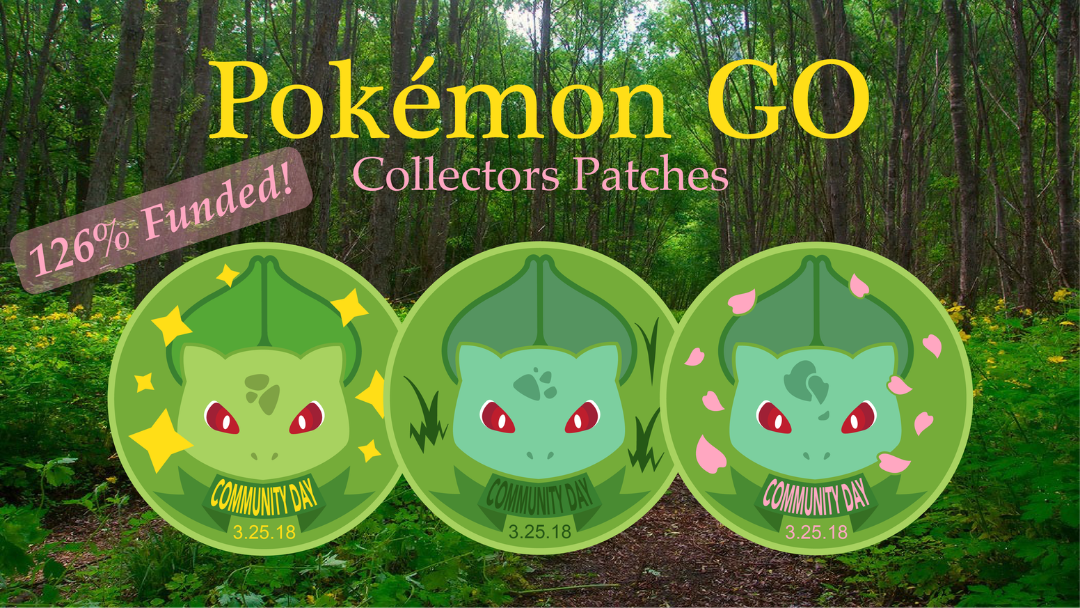 Pokemon Go Community Day Embroidered Patches by Wes