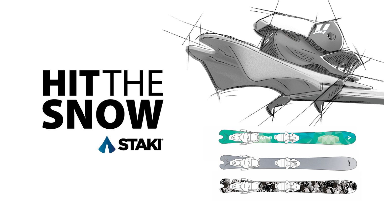 Smart construction skis for all snow conditions