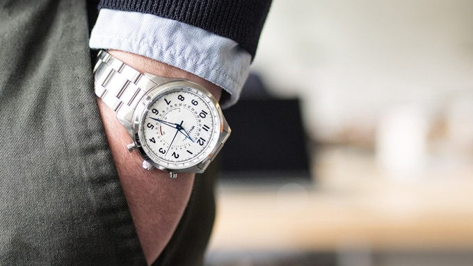 Stainless Steel Chrono Smartwatch with Solid Bracelet