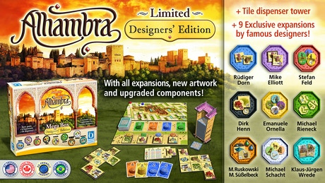 Alhambra Designers Edition By Queen Games Kickstarter - Famous video game designers