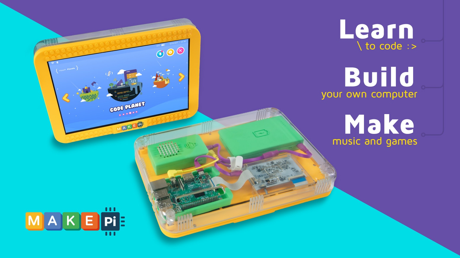 Electronics Projects For Dummies A Sneak Peak Makepad Diy Tablet That Teaches Kids How To Code By Csar Martins Kickstarter