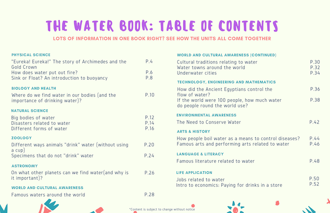See how all these units tie together in our Water Book