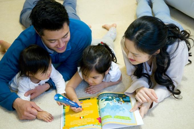 Children enjoy listening to family recordings