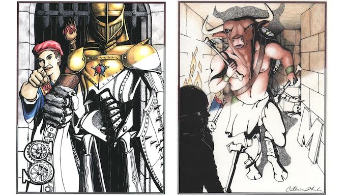 Shield Guardian and Minotaur