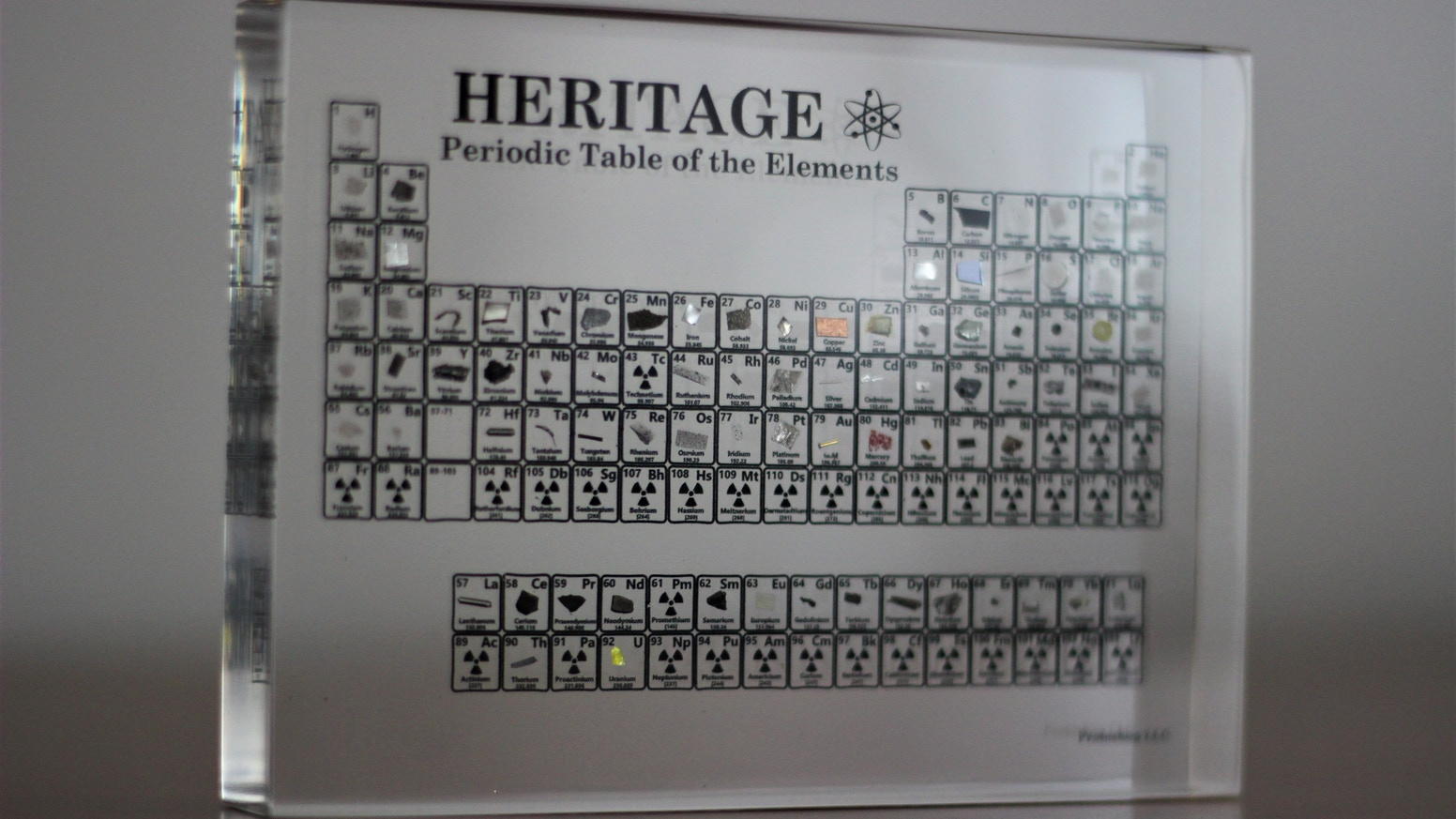 The heritage periodic table by cory james marriott kickstarter the heritage periodic table the worlds first mini handheld collection of all of the elements in the known universe urtaz Choice Image
