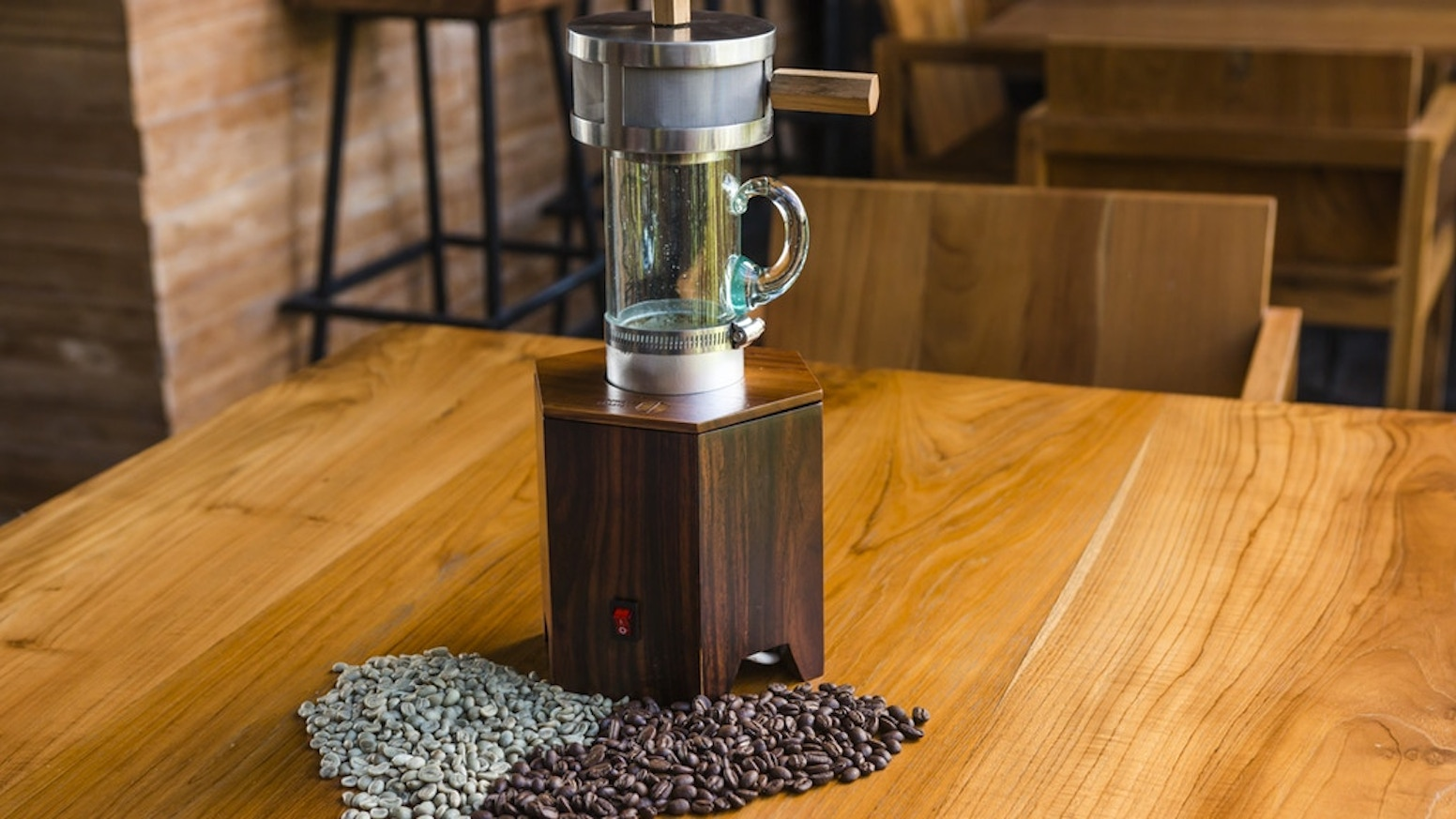 coffee roasting in your own kitchen with the power roaster by