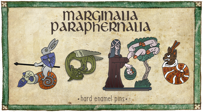 You can now support the second Marginalia Paraphernalia Kickstarter by checking out the link below! Five new pins designs and a whole new sticker sheet!