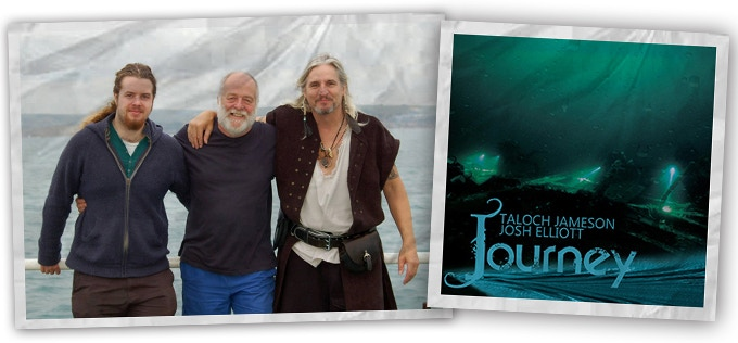 The album 'Journey', and Josh, Grahame and Taloch pictured together.