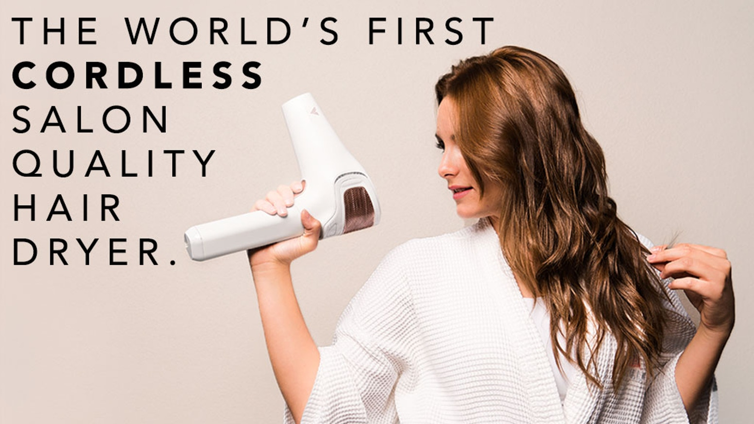 The VOLO Go CORDLESS Hair Dryer. Using healthy infrared heat and lithium-ion batteries, the Go is as effective as a salon hair dryer! If you would still like to pre-order, please click on the button below: