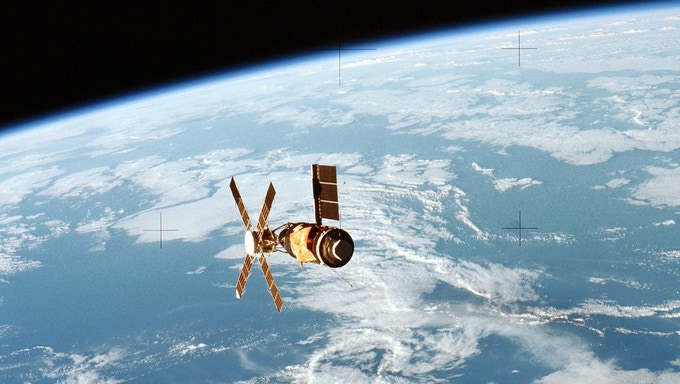 Skylab 2 in orbit
