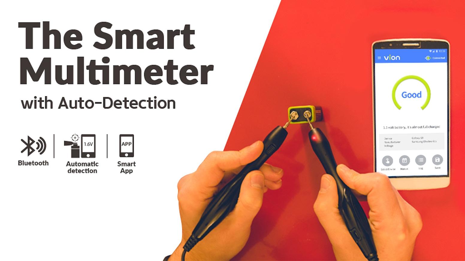 Vion: Auto-Detection l Bluetooth l Smartphone App Multimeter