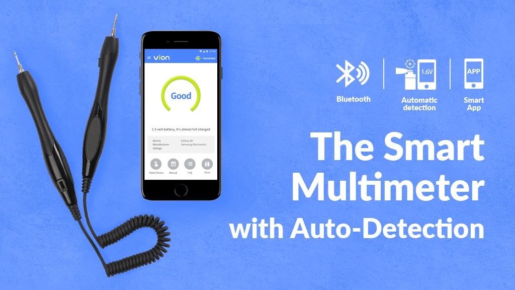 Vion: Auto-Detection l Bluetooth l Smartphone App Multimeter