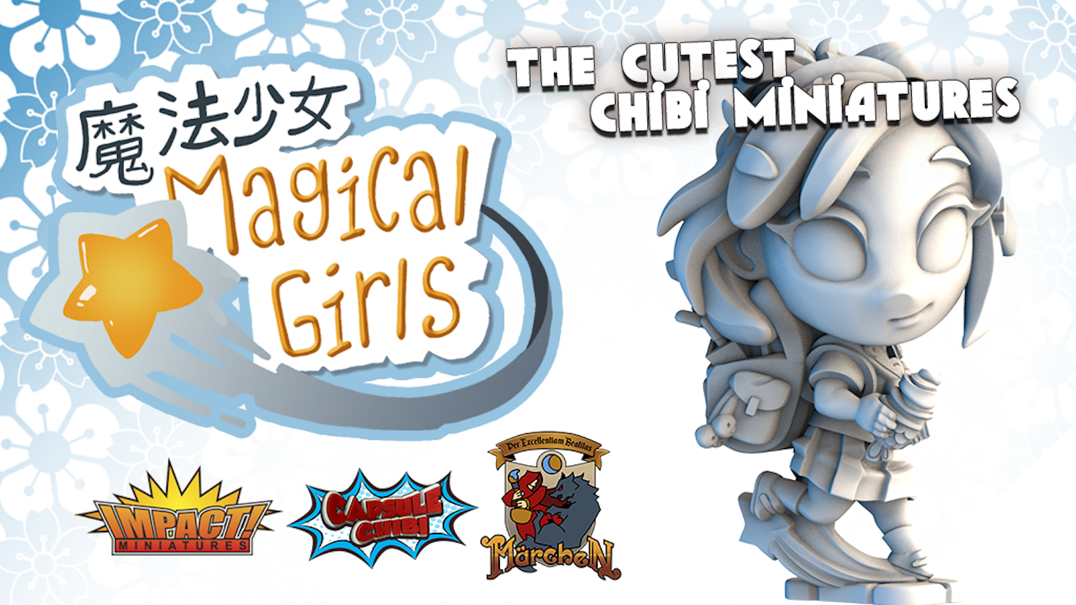 Fun new chibi fantasy miniatures for gaming or painting and display.
