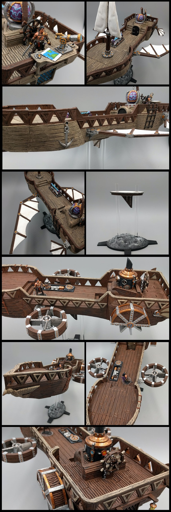 Airship variations made with core set parts