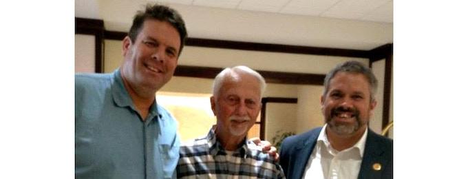 From left: Dwight Steven-Boniecki, Owen K. Garriott, David Hitt