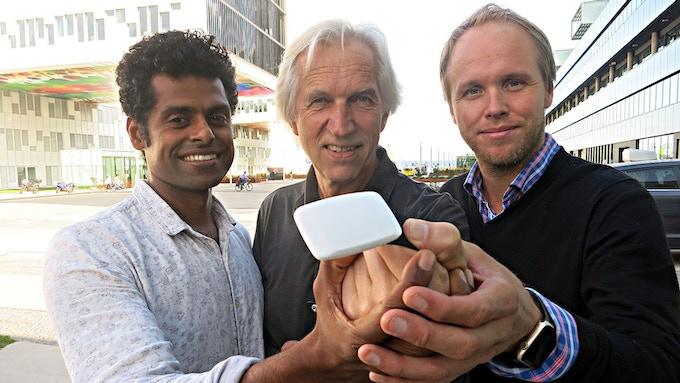 Sagar, Arne and Håvard showing FLOW