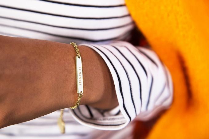 AGP Feminist Bracelet with Charm