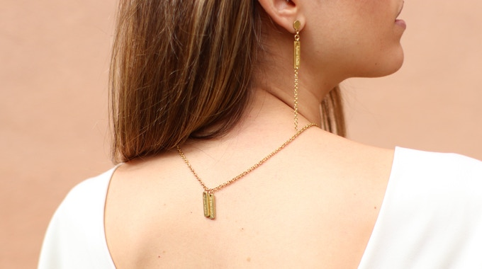 AGP Chain Earrings + Ouidad Necklace