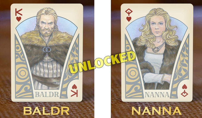 UNLOCKED STRETCH GOAL: The BALDR and NANNA cards